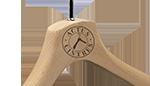Logo sur cintre standard