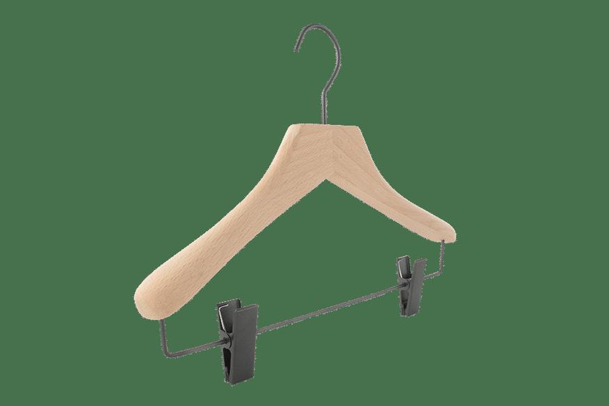 cintre-bois-jupe-pantalon-446c-pinces-canon-de-fusil-logo-cintres-actus-france