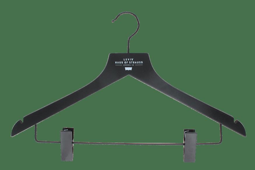 cintre-bois-noir-128hc-pinces-logo-cintres-actus-france
